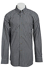 Ariat Men's L/S Peak Western Plaid Slim Fit Shirt 10013373