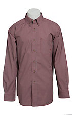 Ariat Men's L/S Rockwell Red Western Check Shirt 10013378