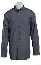 Ariat Men's L/S Lucky Navy Western Print Shirt 10013393