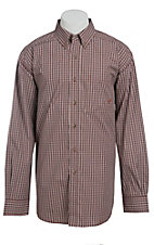 Ariat Men's L/S Ernie Sunset Western Plaid Shirt 10013432