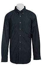 Ariat Men's L/S Cole Navy Western Grid Shirt 10013434