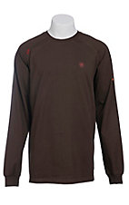 Ariat Men's Coffee FR Work Crew Long Sleeve Shirt