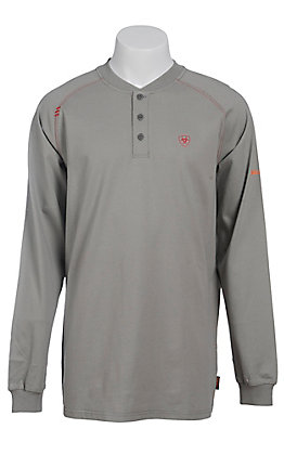 Ariat Men's Silver Fox Henley Long Sleeve FR Work Shirt