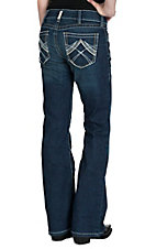 Ariat Women's Ocean Whipstitch Mid-Rise Boot Cut Real Riding Jean
