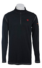 Ariat Work FR Men's Black Polartec HRC2 1/4 Zip Long Sleeve Flame Resistant Shirt