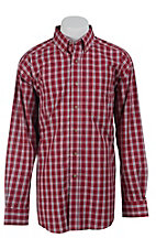 Ariat Mens Baked Apple Kostas Plaid Western Shirt- Big & Talls