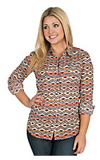 Ariat Women's Lexi Multicolor Aztec Print Long Sleeve Snap Western Shirt