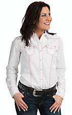 Ariat Women's Nina White Long Sleeve Western Snap Shirt