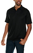 Ariat Men's Black with Grey Stitching Tek Polo