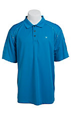Ariat Men's Brilliant Blue Tek Polo