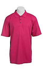 Ariat Men's Pink Dahlia Tek Polo