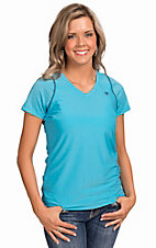 Ariat Women's Gazelle Turquoise Heat Series Tek V-Neck Short Sleve Top