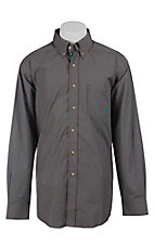 Ariat Men's Chestnut Jessie Mini Plaid Western Shirt