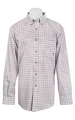 Ariat Work FR Men's Plaid Long Sleeve Flame Resistant Work Shirt - Big & Tall