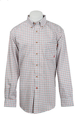 Ariat Work FR Men's Plaid Long Sleeve Flame Resistant Work Shirt 10014857