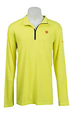Ariat Work FR Men's Yellow Polartec HRC2 1/4 Zip Long Sleeve Flame Resistant Shirt