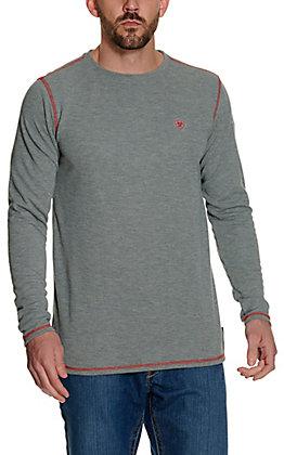 Ariat Men's Light Grey Polartec Baselayer Long Sleeve FR Work Shirt - Big & Tall