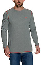 Ariat Work FR Men's Grey HRC1 Crew Neck Long Sleeve Baselayer Flame Resistant Shirt
