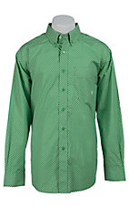 Ariat Men's Paton Green Print Western Shirt