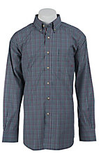 Ariat Mens Navy Paxton Plaid Western Shirt