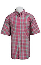 Ariat Men's Red Pembroke Plaid Western Shirt