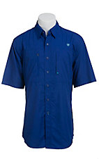Ariat Men's Blue Vented Tek Button Up Shirt