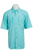 Ariat Men's Turquoise Vented Tek Button Up Shirt