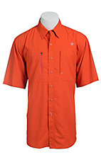Ariat Men's Orange Vented Tek Button Up Shirt