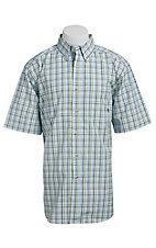 Ariat Men's White Multicolored Plaid Western Shirt