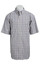 Ariat Men's White Thomas Multicolored Plaid Western Shirt