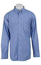 Ariat Men's Thurston Blue Mini Print Western Shirt