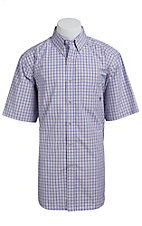Ariat Men's Blue Tilford Multicolored Plaid Western Shirt