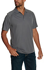 Ariat Men's Shadow Grey Tek Polo
