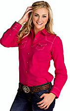 Ariat Women's Hayden Pink Clash Long Sleeve Western Shirt