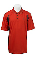 Ariat Men's Rust & Grey Tek Polo