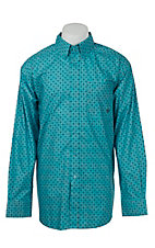 Ariat Men's Scuba Blue Print Western Shirt