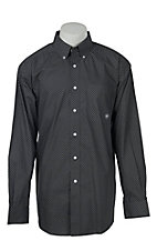 Ariat Men's Grey Mini Print Western Shirt