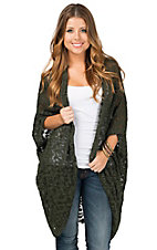 Ariat Women's Green Alki Slub Knit Cardigan