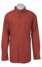 Ariat Mens Desert Red Mini Plaid Western Shirt