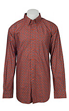 Ariat Men's Desert Red Print Western Shirt