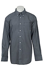Ariat Men's Navy & White Print Western Shirt