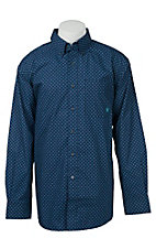 Ariat Men's Blue Diamond Print Western Shirt