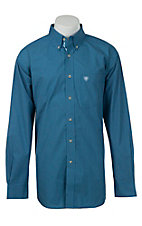 Ariat Mens Blue Glare Mini Check Western Shirt