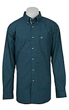 Ariat Mens Peacoat Plaid Western Shirt- Big & Talls