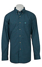 Ariat Mens Peacoat Plaid Western Shirt