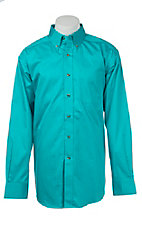 Ariat Men's Solid Turquoise Western Shirt 10015666