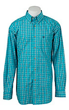 Ariat Mens Scuba Blue Ferris Plaid Western Shirt
