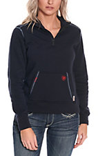 Ariat Work FR Women's Navy Polartec HRC2 1/4 Zip Long Sleeve Flame Resistant Fleece Pullover