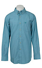 Ariat Mens Blue Mini Check Western Shirt