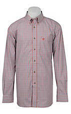 Ariat Mens Red & Navy Plaid Western Shirt